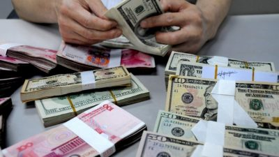 В Китае в первом квартале 2015 года зарегистрирован рекорд дефицита платежного баланса — $80 млрд