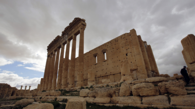 Опубликованы спутниковые снимки разрушенного исламистами храма в Пальмире(видео)