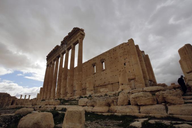 Храм Бэла до взрыва. Пальмира.  Фото: JOSEPH EID/Getty Images | Epoch Times Россия