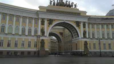 «Бал истории» на Дворцовой площади в честь Эрмитажа