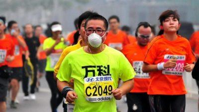 В Пекине состоялся Международный марафон при плотном смоге