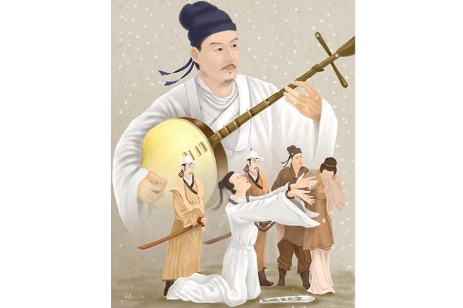 Гуань Ханьцин — величайший драматург и мастер китайской классической драмы. Иллюстрация: SM Yang/Epoch Times   Epoch Times Россия