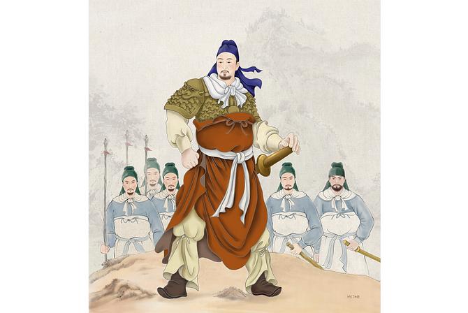 Сюй Да — выдающийся генерал династии Мин, верный и благоразумный соратник императора. Иллюстрация: SM Yang/Epoch Times   Epoch Times Россия