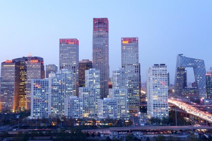 Деловой район Пекина, 27 ноября 2013 г. Фото: WANG ZHAO/AFP/Getty Images   Epoch Times Россия