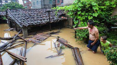 На Китай обрушился разрушительный тайфун «Непартак»