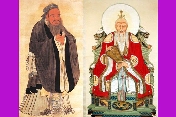(Слева направо) Конфуций и Лао Цзы. Фото:  Public domain   Epoch Times Россия
