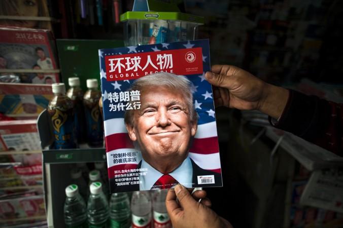 Фото Трампа на обложке китайского журнала Global People на пресс-стенде в Шанхае 14 ноября 2016 года. Фото: Johannes EiseleAFP/Getty Images | Epoch Times Россия