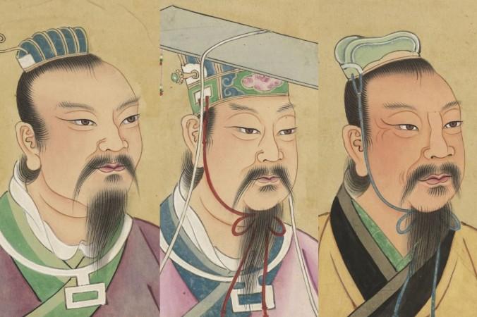 (Слева направо) Императоры Яо, Шунь и Юй. Фото: Public Domain | Epoch Times Россия