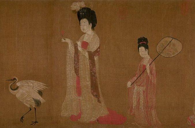 «Придворные дамы с цветами в волосах», картина Чжоу Фана на шёлковом свитке. Музей города Ляонин, провинция Шэньян, Китай. Фото: Public Domain | Epoch Times Россия