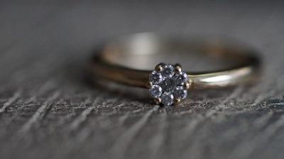 Старинные кольца с бриллиантами