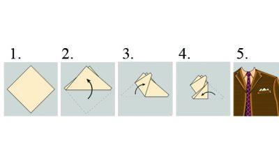 Мужской стиль: пять способов сложить карманный платок
