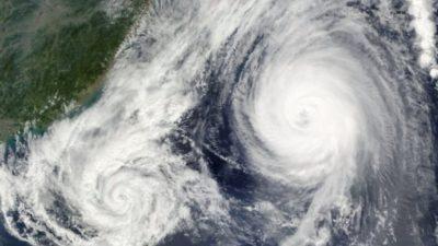 Китай окажется между тайфунами «Талим» и «Доксури»