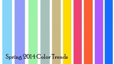 Модные цвета весеннего сезона 2014