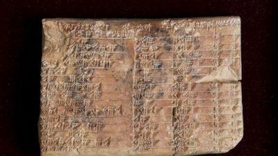 Учёные расшифровали таинственную вавилонскую табличку (видео)