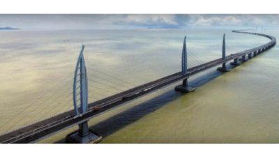 Самый длинный мост над морем построили в Китае. Прочность конструкции уже проверена мощным тайфуном