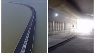 В Китае открыли самый длинный в мире морской мост. Но на 7 км он уходит под воду!