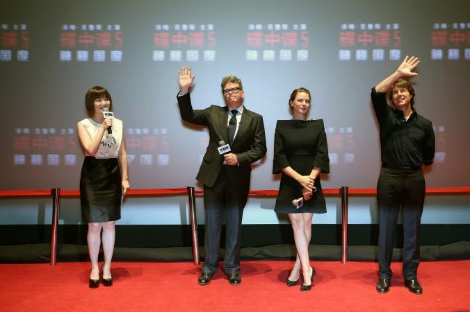 Актёры фильма «Миссия невыполнима ― племя изгоев» на показе в Пекине 7 сентября 2015 г. Alibaba сделала инвестиции в фильм, который собрал 0 миллионов по всему миру. Фото: Emmanuel Wong/Getty Images for Paramount Pictures | Epoch Times Россия