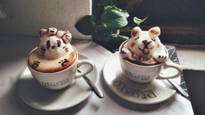 Посмотрите, 3D-рисунки на кофе! Удивительный вид латте-искусства