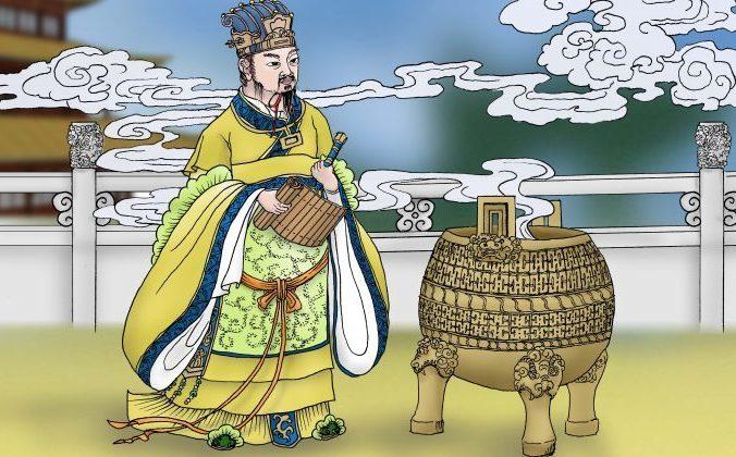 Создавший орудие «горящего наказания» император Чжоу из династии Шан. Изображение: Sun Ming guo / The Epoch Times | Epoch Times Россия