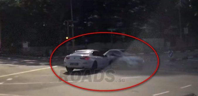 (Видео)Машина-призрак стала причиной аварии