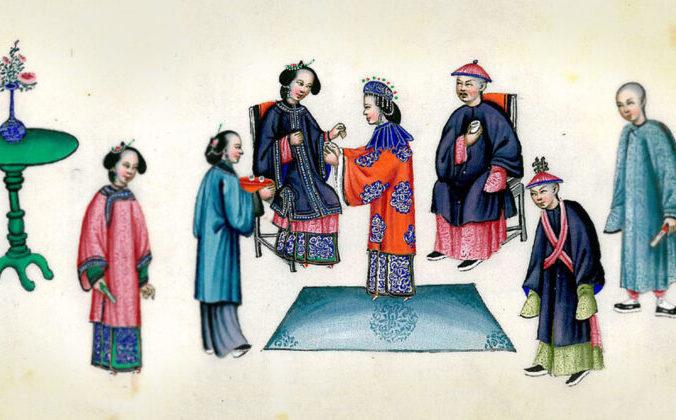 Свадьба династии Цин, невеста преподносит чай своей свекрови. Фото: Wikimedia Commons | Epoch Times Россия