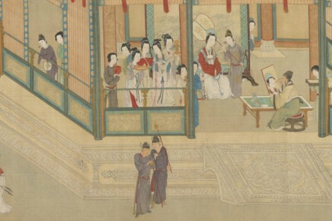 Придворный художник Мао Яншоу рисует Ван Чжаоцзюнь. «Весеннее утро во дворце Хань», Цю Ин. Национальный дворец-музей в Тайбэе, Тайвань. (Public Domain) | Epoch Times Россия
