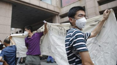 Пострадавшие от взрывов в Тяньцзине не получили нормальных компенсаций