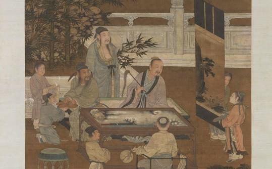 «Восемнадцать ученых» анонимного художника из династии Мин. На картине изображены восемнадцать эрудированных конфуцианцев, собравшихся императором Таном Тайцзуном, когда он основал Институт литературоведения. (Всеобщее достояние) | Epoch Times Россия