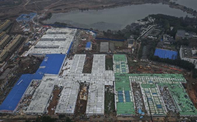 Завершается строительство больницы Хуошэньшань, 2 февраля 2020 года, Ухань, Китай. (Stringer / Getty Images) | Epoch Times Россия