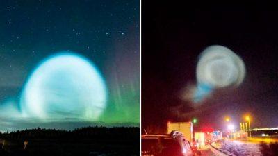 Таинственный светящийся шар в небе над Салехардом напугал сибиряков