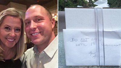 Пара получила свадебный подарок с надписью: «Не открывайте до первой ссоры». Они открыли его 9 лет спустя