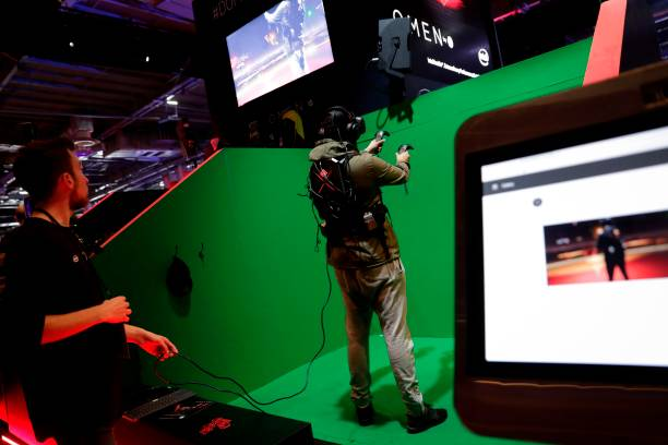 виртуальный аттракцион. Фото: THOMAS SAMSON/AFP via Getty Images   Epoch Times Россия