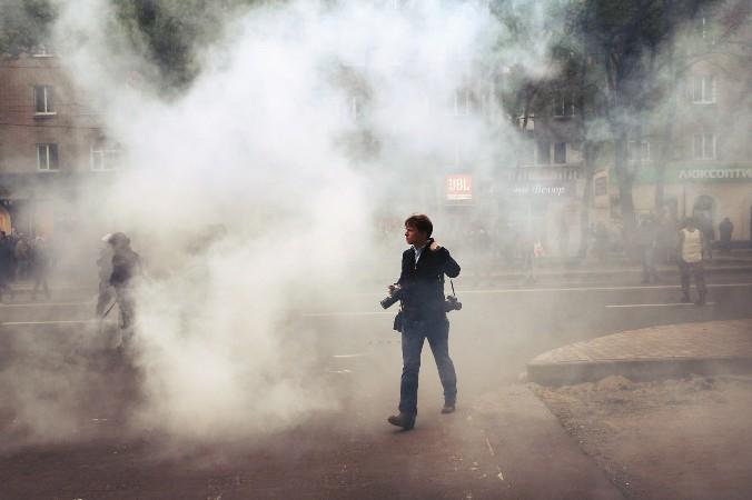 Рейтинг Украины также упал до несвободного в 2013 году в основном по причине нападений на журналистов, которые занимались освещением протестов Евромайдана. Фото: Scott Olson/Getty Images   Epoch Times Россия