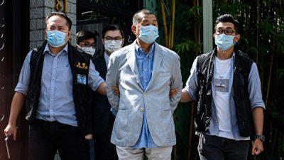 Арест гонконгского медиамагната ЕС и Великобритания оценили как нарушение Китаем свободы СМИ