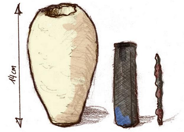 Иллюстрация древней батарейки. Фото: Ironie/wikipedia.org/CC BY-SA 2.5 | Epoch Times Россия