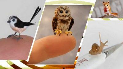 Современный Левша: художница создаёт настолько крошечные фигурки животных, что трудно рассмотреть детали. Полюбуйтесь!