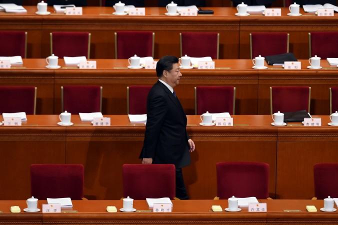 Китайский лидер Си Цзиньпин в Большом зале народных собраний в Пекине 5 марта 2016 года. Фото: WANG ZHAO/AFP/Getty Images   Epoch Times Россия