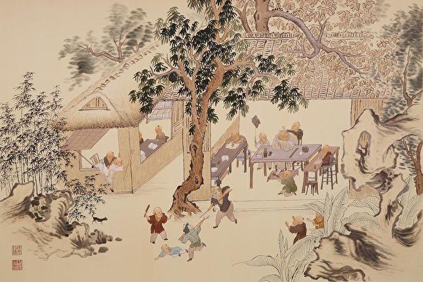 Деревенские мальчишки играют и занимаются. Сучжоуская вышивка/Public Domain   Epoch Times Россия