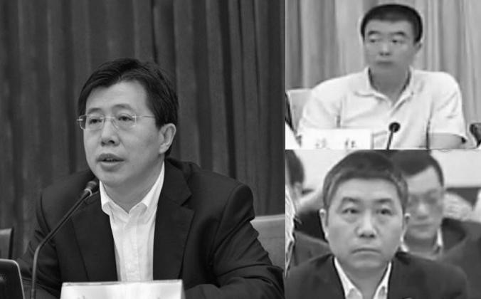 Цзи Вэньлинь (слева), Тан Хун (справа) и Ю Ган (справа) были лишены членства в партии 2 июля, согласно заявлению антикоррупционных властей. У всех троих были тесные связи с бывшим начальником службы безопасности Чжоу Юнканом, который, как полагают, находился под прицелом лидера партии Си Цзиньпина. (Скриншот / ifeng.com / gcpnews.com)   Epoch Times Россия