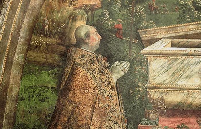 Папа Александр VI перед воскресшим Христом (деталь фрески). Пинтуриккьо /wikipedia.org/Общественное достояние   Epoch Times Россия