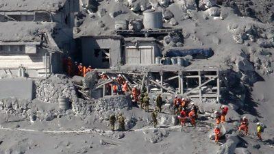 Вулкан Хаконэ в Японии выбросил пепел