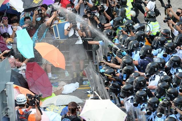 Протесты в Гонконге. 27-28 сентября 2014 года. Фото: Anthony Kwan/Getty Images   Epoch Times Россия