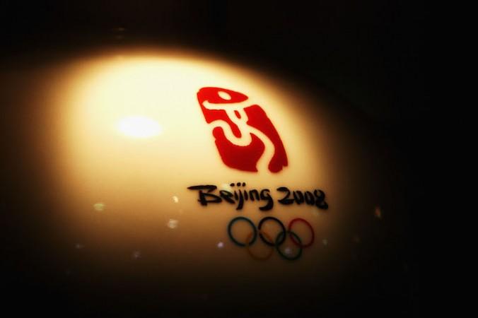 Логотип Олимпиады-2008, 4 августа 2008 года. Фото: Ryan Pierse/Getty Images   Epoch Times Россия