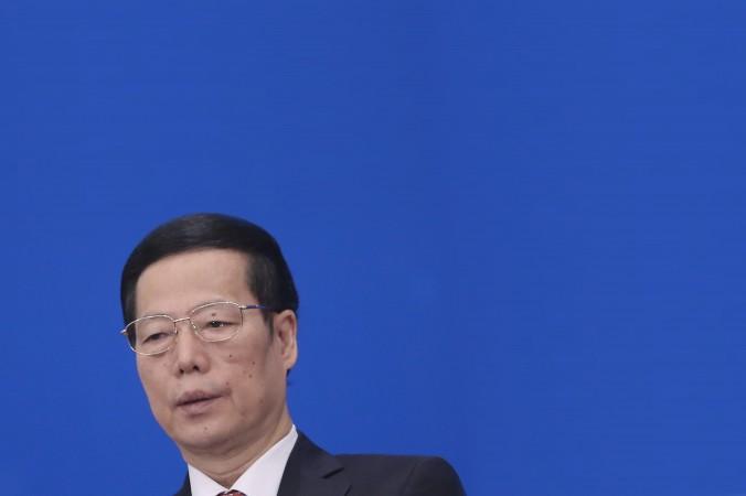 Чжан Гаоли на пресс-конференции после закрытия сессии Всекитайского собрания народных представителей (ВСНП) в Большом зале народов 17 марта 2013 года в Пекине, Китай. Фото: Feng Li/Getty Images) | Epoch Times Россия