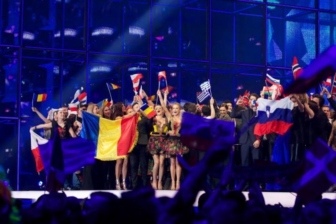 На сцене участники второго полуфинала, прошедшие в финал конкурса песни Евровидение 2014.  8 мая 2014, Копенгаген, Дания. Фото: Ragnar Singsaas/Getty Images | Epoch Times Россия