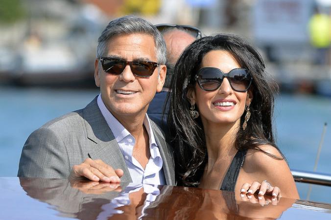 Джордж Клуни и его невеста прибыли в Венецию для бракосочетания
