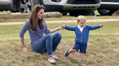 Герцог и герцогиня Кембриджские с принцем Джорджем посетили матч поло в Глостершире