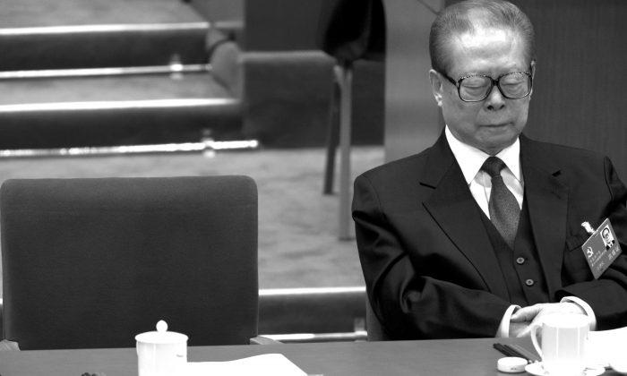 Бывший лидер коммунистической партии Китая Цзян Цзэминь в Большом зале народных собраний в Пекине 8 ноября 2012 г. (Александр Ф. Юань / AP Photo)   Epoch Times Россия