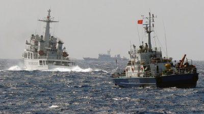 Китайский корабль протаранил катер вьетнамской морской полиции