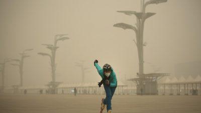 Во время конференции по климату Пекин накрыл смог